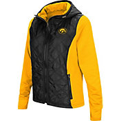 Colosseum Women's Iowa Hawkeyes Black/Gold Six Fingers Full-Zip Jacket