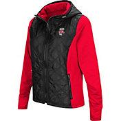 Colosseum Women's Wisconsin Badgers Black/Red Six Fingers Full-Zip Jacket