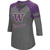 Colosseum Women's Washington Huskies Grey Three-Quarter Sleeve Tri-Blend T-Shirt