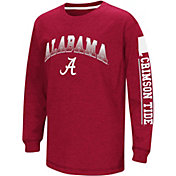 Colosseum Youth Alabama Crimson Tide Crimson Grandstand Long Sleeve T-Shirt