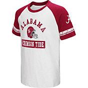 Colosseum Youth Alabama Crimson Tide Crimson All Pro Raglan Football T-Shirt