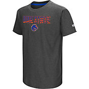 Colosseum Youth Boise State Broncos Grey Hat Trick T-Shirt