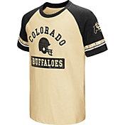 Colosseum Youth Colorado Buffaloes Black All Pro Raglan Football T-Shirt