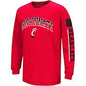 Colosseum Youth Cincinnati Bearcats Red Grandstand Long Sleeve T-Shirt