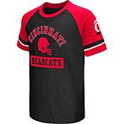 Colosseum Youth Cincinnati Bearcats Red All Pro Raglan Football T-Shirt