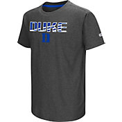 Colosseum Youth Duke Blue Devils Grey Hat Trick T-Shirt