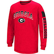 Colosseum Youth Georgia Bulldogs Red Grandstand Long Sleeve T-Shirt