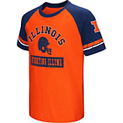 Colosseum Youth Illinois Fighting Illini Blue All Pro Raglan Football T-Shirt