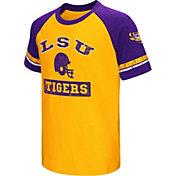 Colosseum Youth LSU Tigers Purple All Pro Raglan Football T-Shirt