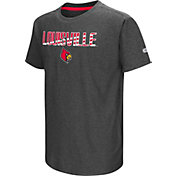 Colosseum Youth Louisville Cardinals Grey Hat Trick T-Shirt