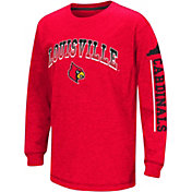 Colosseum Youth Louisville Cardinals Cardinal Red Grandstand Long Sleeve T-Shirt
