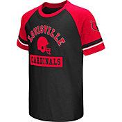 Colosseum Youth Louisville Cardinals Cardinal Red All Pro Raglan Football T-Shirt