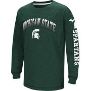 Colosseum Youth Michigan State Spartans Green Grandstand Long Sleeve T-Shirt