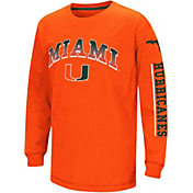 Colosseum Youth Miami Hurricanes Orange Grandstand Long Sleeve T-Shirt