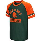 Colosseum Youth Miami Hurricanes Orange All Pro Raglan Football T-Shirt