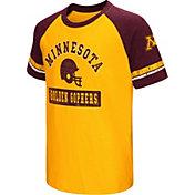 Colosseum Youth Minnesota Golden Gophers Maroon All Pro Raglan Football T-Shirt