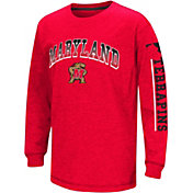 Colosseum Youth Maryland Terrapins Red Grandstand Long Sleeve T-Shirt