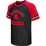 Colosseum Youth Maryland Terrapins Red All Pro Raglan Football T-Shirt