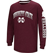 Colosseum Youth Mississippi State Bulldogs Maroon Grandstand Long Sleeve T-Shirt