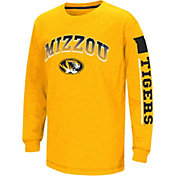 Colosseum Youth Missouri Tigers Black Grandstand Long Sleeve T-Shirt