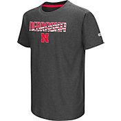 Colosseum Youth Nebraska Cornhuskers Grey Hat Trick T-Shirt