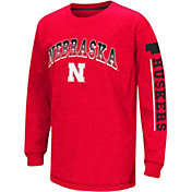 Colosseum Youth Nebraska Cornhuskers Red Grandstand Long Sleeve T-Shirt