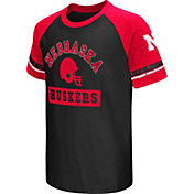 Colosseum Youth Nebraska Cornhuskers Red All Pro Raglan Football T-Shirt