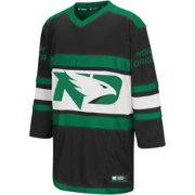 Colosseum Youth North Dakota Fighting Hawks Black Open Net II Hockey Jersey