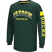 Colosseum Youth Oregon Ducks Green Grandstand Long Sleeve T-Shirt