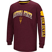 Colosseum Youth Arizona State Sun Devils Maroon Grandstand Long Sleeve T-Shirt