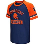 Colosseum Youth Syracuse Orange Orange All Pro Raglan Football T-Shirt