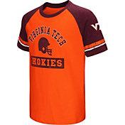 Colosseum Youth Virginia Tech Hokies Maroon All Pro Raglan Football T-Shirt