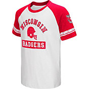Colosseum Youth Wisconsin Badgers Red All Pro Raglan Football T-Shirt