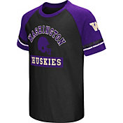Colosseum Youth Washington Huskies Purple All Pro Raglan Football T-Shirt