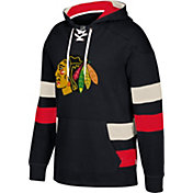 CCM Men's Chicago Blackhawks Jersey Black Pullover Hoodie