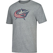 CCM Men's Columbus Blue Jackets Big Logo Heather Grey T-Shirt