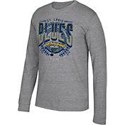 CCM Men's St. Louis Blues Centennial Fly High Heather Grey Long Sleeve Shirt