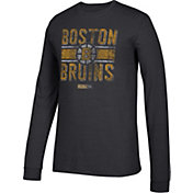 CCM Men's Boston Bruins Line Brawl Black Long Sleeve Shirt