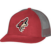 CCM Men's Arizona Coyotes Trucker Black Mesh Adjustable Hat