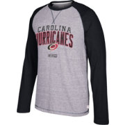 CCM Men's Carolina Hurricanes Crew Heather Grey/Black Long Sleeve Shirt