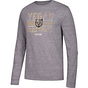 CCM Men's Vegas Golden Knights Line Brawl Grey Long Sleeve Shirt