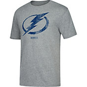 CCM Men's Tampa Bay Lightning Big Logo Heather Grey T-Shirt