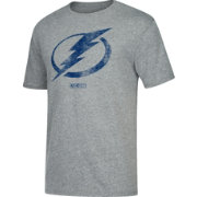 CCM Men's Tampa Bay Lightning Big Logo Heather Grey T-Shirt