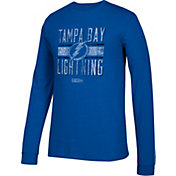 CCM Men's Tampa Bay Lightning Line Brawl Royal Long Sleeve Shirt