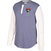 CCM Men's Florida Panthers Henley Grey Long Sleeve Shirt