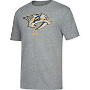 CCM Men's Nashville Predators Big Logo Heather Grey T-Shirt