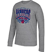 CCM Men's New York Rangers Centennial Fly High Heather Grey Long Sleeve Shirt