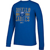 CCM Men's Buffalo Sabres Line Brawl Royal Long Sleeve Shirt