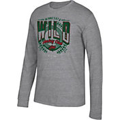 CCM Men's Minnesota Wild Centennial Fly High Heather Grey Long Sleeve Shirt