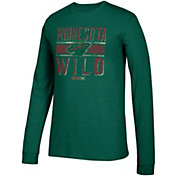 CCM Men's Minnesota Wild Line Brawl Green Long Sleeve Shirt